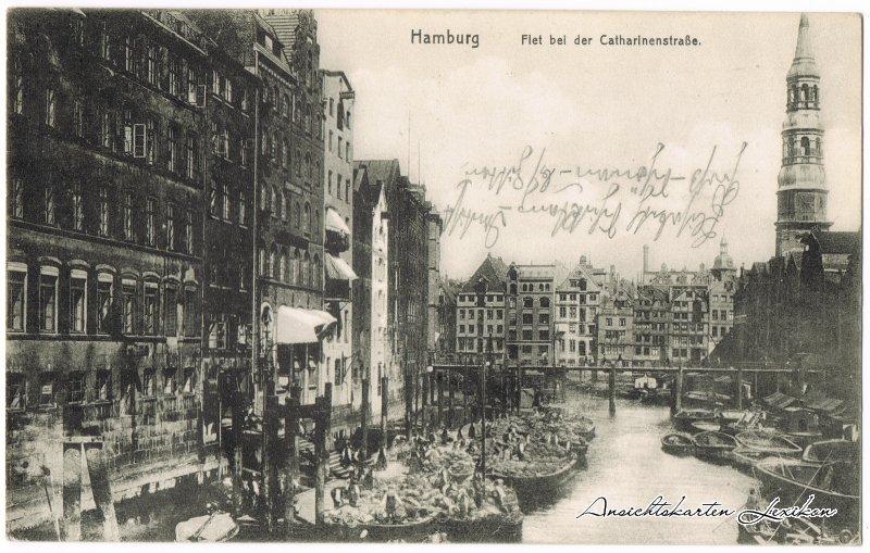Hamburg Flet bei der Catharienstraße