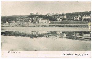 Westward Ho! Blick auf die Stadt - Strand