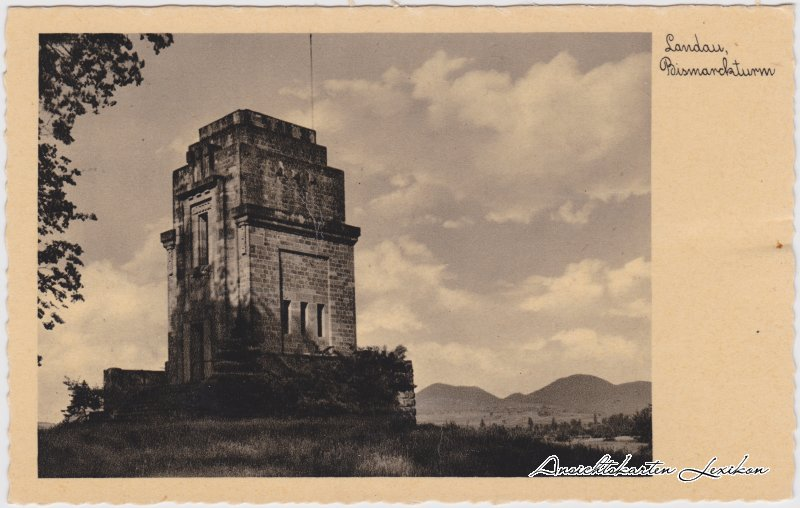 Landau in der Pfalz Partie am Bismarckturm