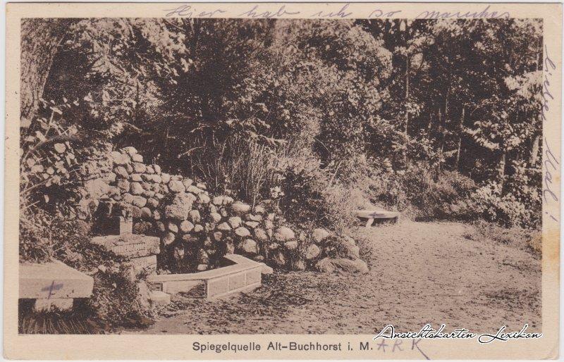 Buchhorst-Grünheide (Mark) Partie an der Spiegelquelle