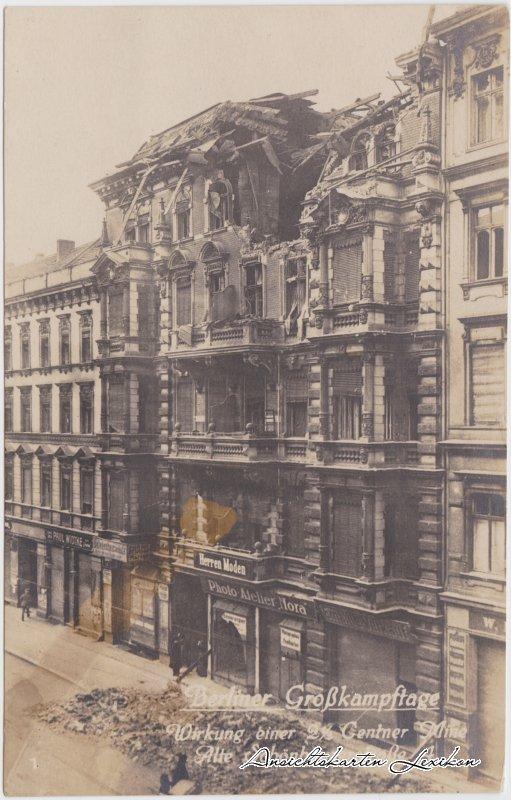 Mitte-Berlin Berliner Großkampftage - zerstörte Häuser