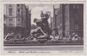 Altona-Hamburg Blick in die Straße und Kaufmannbrunnen