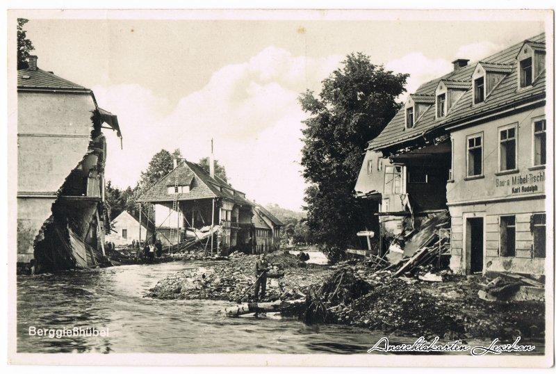 Bad Gottleuba-Bad Gottleuba-Berggießhübel Unwetterkatasstrophe Berggießhübel 8. Juli 1927