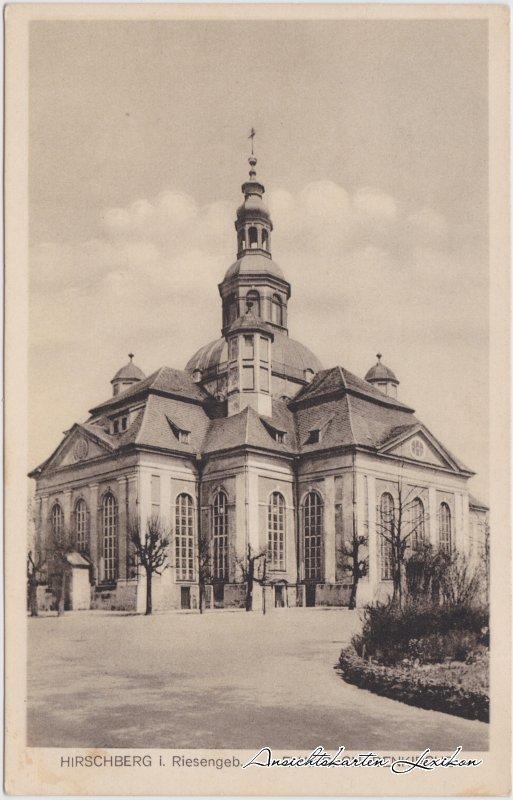 Hirschberg (Schlesien) Partie an der Kirche