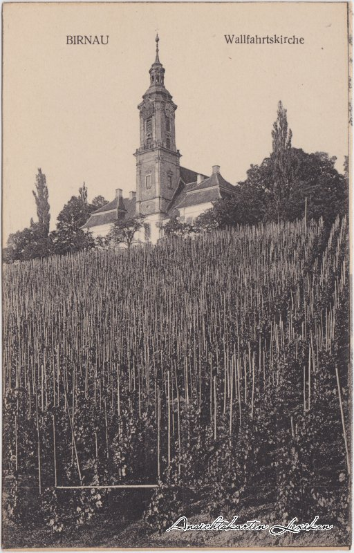 Uhldingen Mühlhofen Bilck auf die Wallfahrtskirche Ansichtskarte c1918