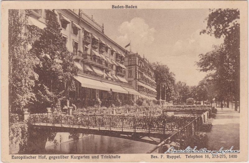 Baden-Baden Hotel Europäischer Hof