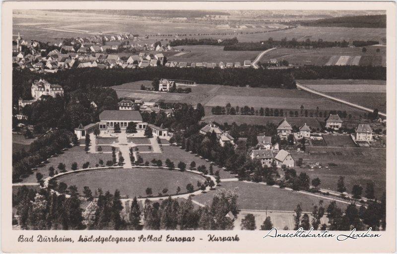 Bad Dürkheim Blick  auf den Kurpark