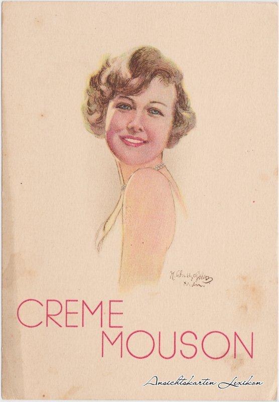 Creme Mouson Werbepostkarte