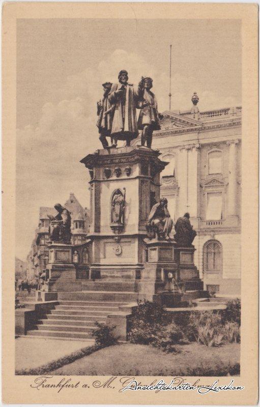 Frankfurt am Ansichtskarte Main Gutenberg-Denkmal Ansichtskarte c1914