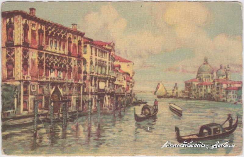 Venedig Venezia 2. Canal Grande - Palazzo Franchetti (Künstlerkarte) Ansichtskarte 1929