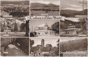 Tabarz Thüringer Wald Mehrbildkarte Foto Ansichtskarte 1956