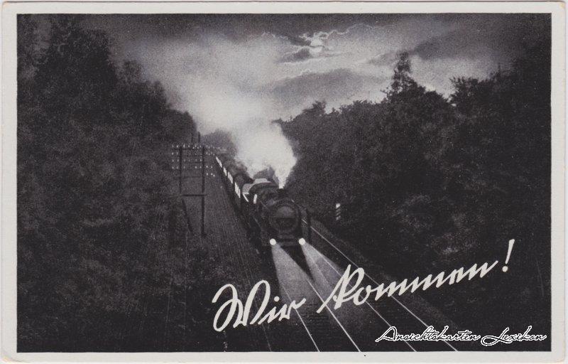 Dampflokomotive bei Nacht (Wir Kommen!)