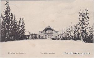 Carolagrün-Auerbach (Vogtland) Im Winter, von Süden gesehen