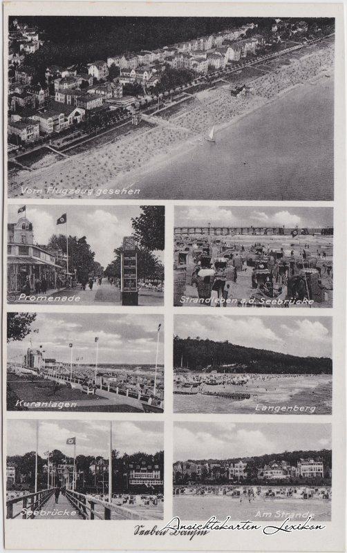 Bansin Mehrbild: Strand, Luftbild, Promenade
