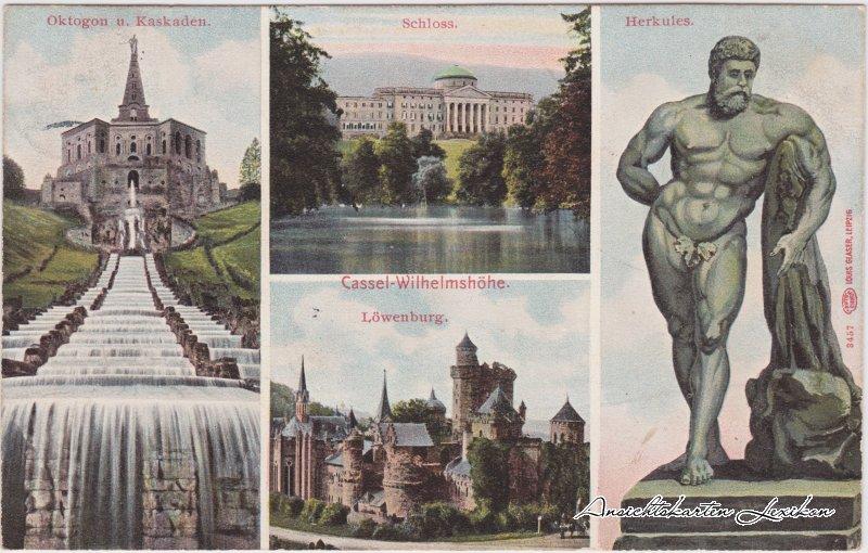 kassel wilhelmsh he 1921 nr 0094587 oldthing ansichtskarten deutschland plz 30 39. Black Bedroom Furniture Sets. Home Design Ideas