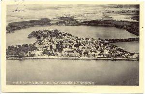 Ratzeburg Inselstadt vom Flugzeug aus gesehen