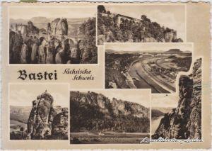 Ansichtskarte Rathen Bastei Sächsische Schweiz