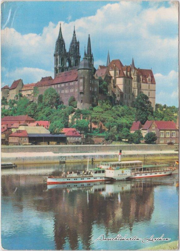 Meißen Albrechtsburg und Dom Ansichtskarte 1974