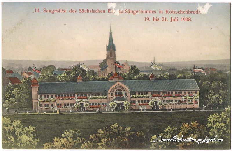 Kötzschenbroda-Radebeul 14. Sangesfest 19. bis 21. Juli 1908