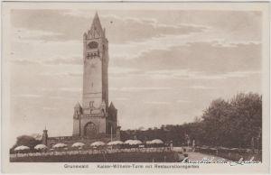 Grunewald-Berlin Kaiser-Wilhelm-Turm mit Restaurationsgarten