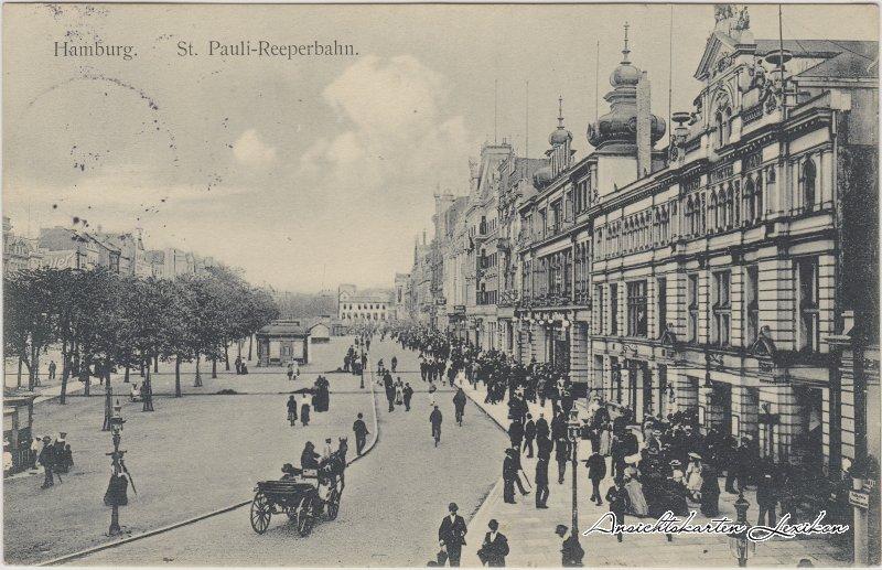 St. Pauli-Hamburg St. Pauli-Reeperbahn, belebt