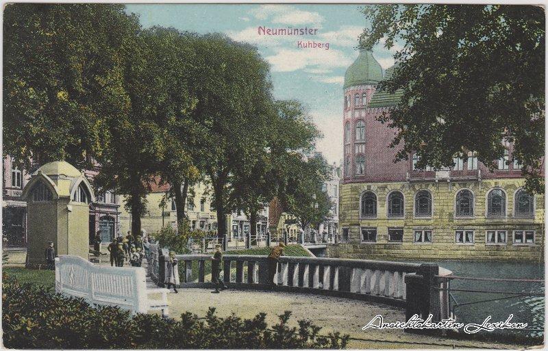 Neumünster Kuhberg, Kiosk und Straßenpartie