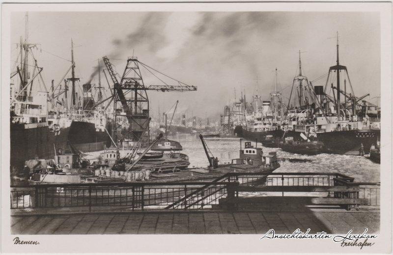 Bremen Blick auf den Freihafen