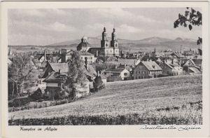 Kempten (Allgäu) Blick auf die Stadt Ansichtskarte 1956