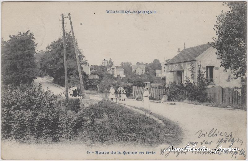 Villiers-sur-Marne Route de a Queue en Brie