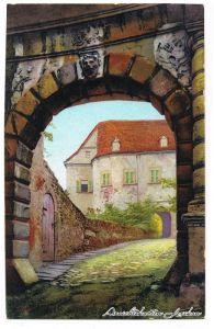 Scharfenstein-Drebach (Erzgebirge) Eingang zum Schloss Scharfenstein