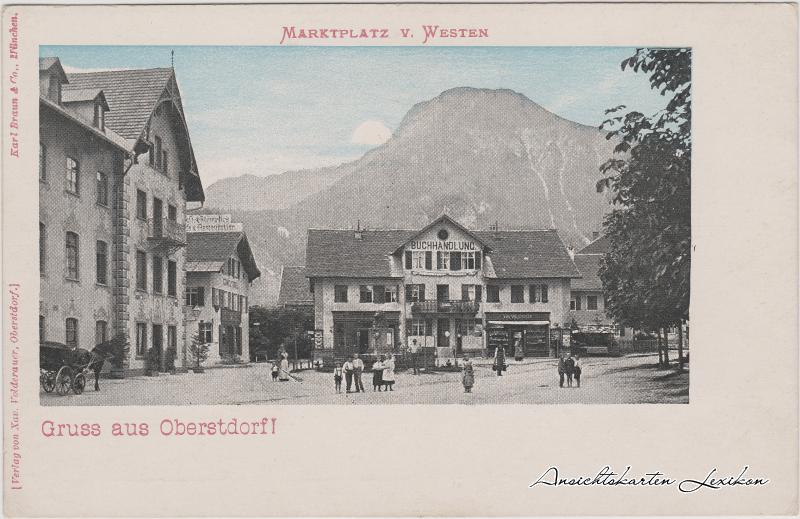 Oberstdorf (Allgäu) Platz mit Buchhandlung