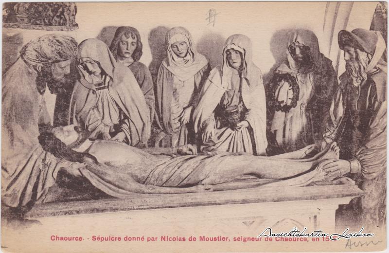 Chaource Sépuicre donné par Nicolas de Moustier, selgneur de Chaource