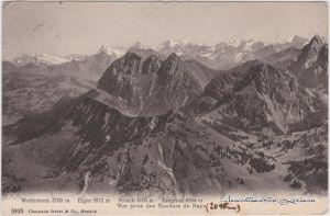 Grindelwald Wetterhorn, Eiger, Mönch und Jungfrau