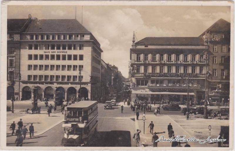 Mitte-Berlin Unter den Linden Ecke Friedrichstraße Ansichtskarte 1938
