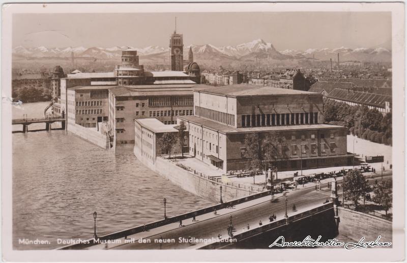 München Deutsches Museum mit den neuen Studiengebäuden