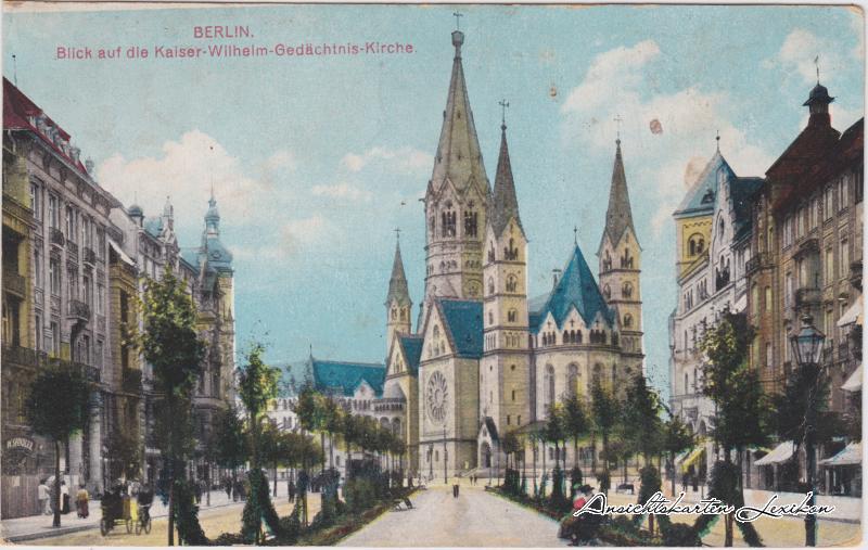 Charlottenburg-Berlin Blick auf die Kaiser-Wilhelm-Gedächtnis-Kirche