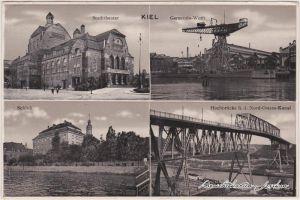 Suchsdorf-Kiel 4 Bild: Germania Werft, Schloß, Rathaus und Hochbrücke