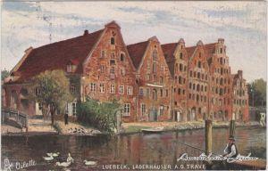 Lübeck Lagerhäuser an der Trave