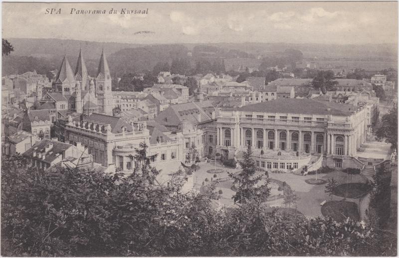 Spa (Stadt) Panorama du Kursaal