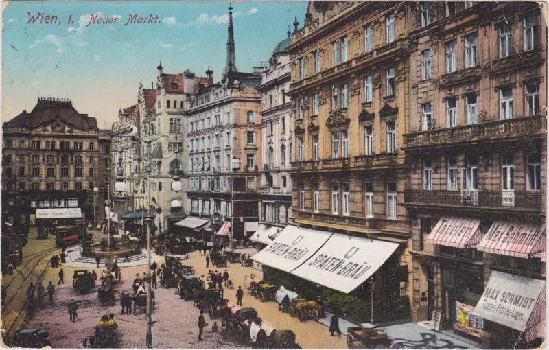 Wien Neuer Markt, Geschäfte, Restaurants