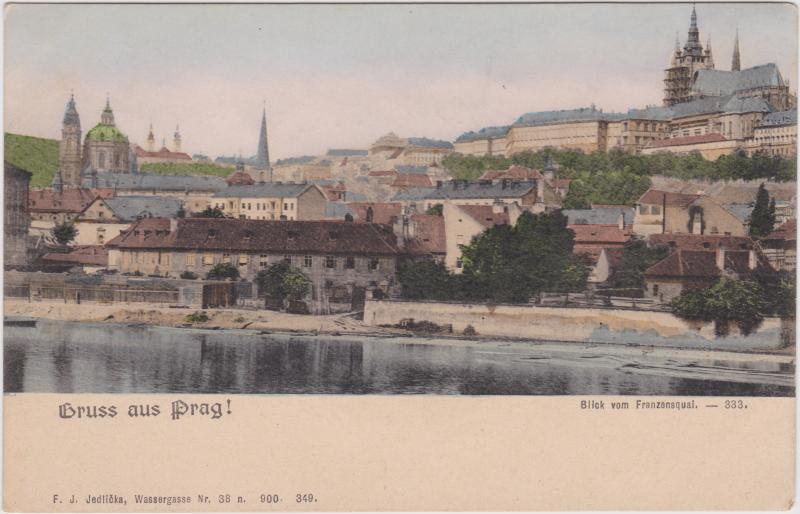 Prag Blick vom Ferdinandsquai