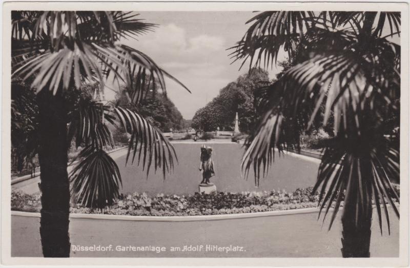 Düsseldorf Gartenanlage (Graf-Adolf-Platz) Ansichtskarte 1939