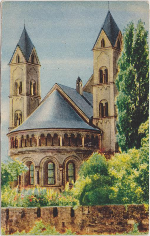 Koblenz Herz-Jesu-Kirche Ansichtskarte 1955