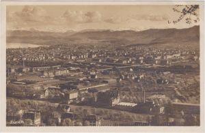 Zürich Totale mit Fabrikanlage