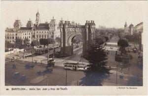 Barcelona Salón San Juan y Arco del Triunfo