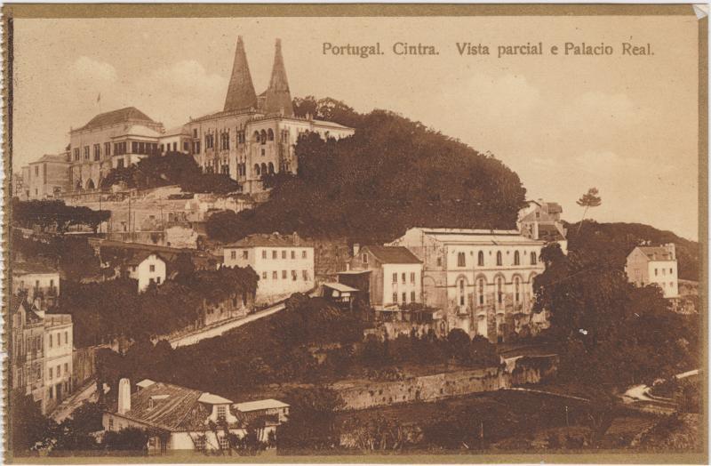 Sintra Vista parcial e Palacio Real
