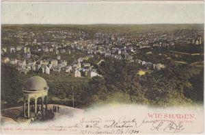 Wiesbaden Blick vom Neroberg auf die Stadt