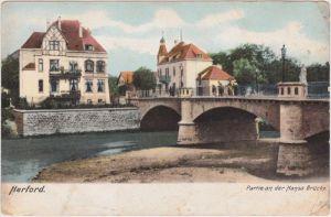 Herford Partie an der Hansa Brücke