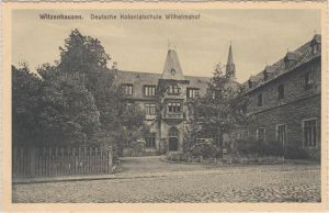 Witzenhausen Deutsche Kolonialschule Wilhelmshof