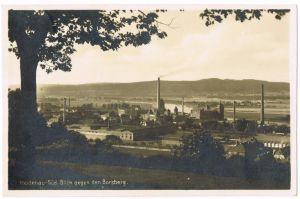 Heidenau (Sachsen) Blick auf Stadt und Industrieanlagen